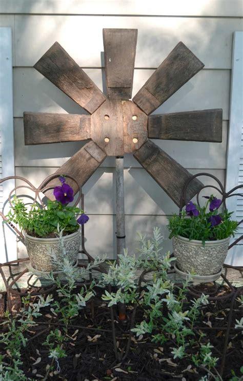 outdoor garden decor ideas yard made from a repurposed broken wood barrel 3821