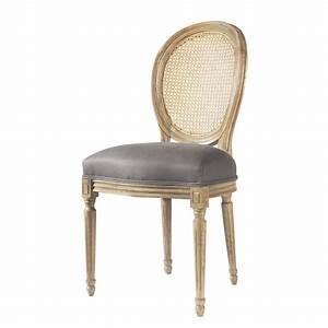 Chaise Medaillon But : chaise m daillon en lin et ch ne massif taupe louis maisons du monde ~ Teatrodelosmanantiales.com Idées de Décoration