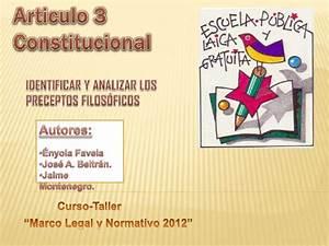 Articulo 3 constitucional