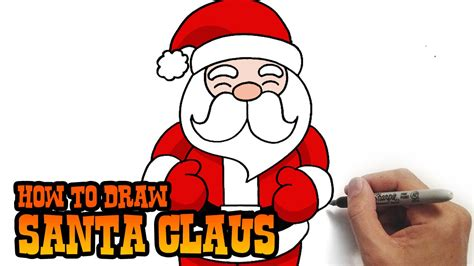 best drawi g of santa clause with chrisamas tree how to draw santa claus simple and easy lesson