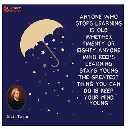 Learning Quote Twain Mark Quotes Development Trainer