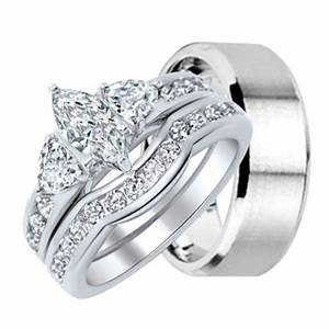 Inspirational wedding ring sets for him and her for Her and her wedding rings