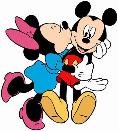 Minnie Mickey Kissing Clipart Mouse Clip Disney