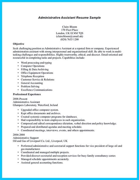 business administration resume no experience 17 best ideas about administrative assistant resume on administrative assistant