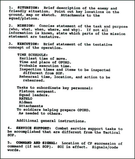 Usmc Warning Order Templatefileirr Marines