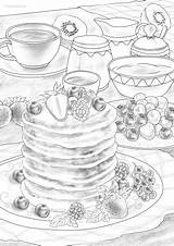 Pancakes Favoreads Coloring Club sketch template