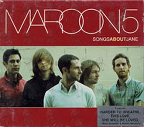 maroon 5 songs about jane maroon 5 song about jane album cd rare records