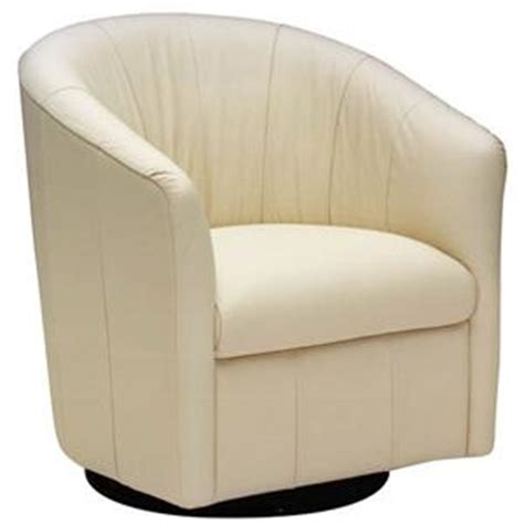 Natuzzi White Leather Swivel Chair by Natuzzi Editions Accent Chairs Chairs Store Furniture