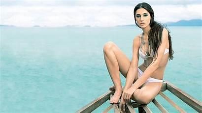 Nargis Fakhri Bikini Wallpapers Photoshoot Boat Instagram