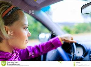 Car driving woman stock photo. Image of inside, city ...