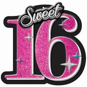 Sweet 16 Celebration Glitter Cut Out – Zurchers