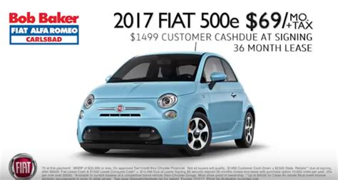 Fiat Lease Deal by Fiat Lease Deal 2017 60 Per Month Evadoption