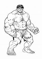 Hulk Coloring Pages Printable Sheets Colour sketch template