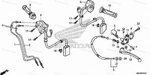 Honda Motorcycle 2015 Oem Parts Diagram For Handle Lever