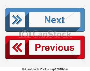 Clipart Vector Of Next And Previous Buttons Next And