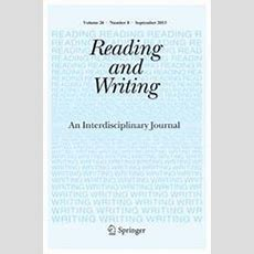 Reading Comprehension Difficulties In Children Springerlink