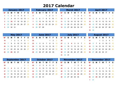monthly calendar template 2017 printable 12 month calendar template 2017 calendar template letter format printable holidays