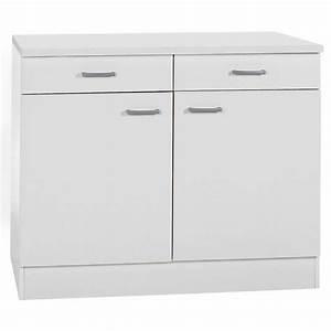 Küchenunterschrank Mit Schubladen 100 Cm : unterschrank klassik 60 wei 100 cm mit arbeitsplatte kaufen bei obi ~ Watch28wear.com Haus und Dekorationen