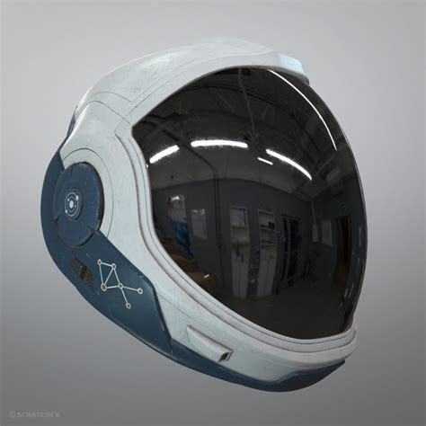 astronaut helmet stargazer model turbosquid