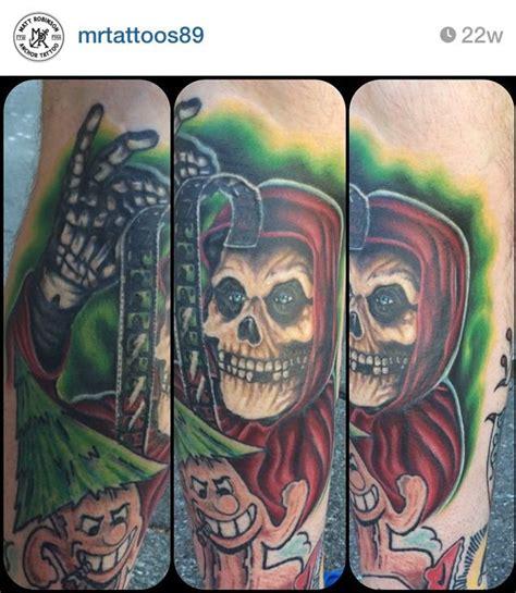 Misfits crimson gosht tattoo portrait horror skull By Matt ...