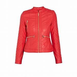 Veste En Cuir Rouge Homme : veste rouge cintr e femme simili cuir morgan mode conseils mode ~ Melissatoandfro.com Idées de Décoration