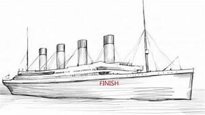 How To Draw Titanic - YouTube