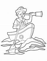 Boat Row Coloring Printable Museprintables Rowing sketch template