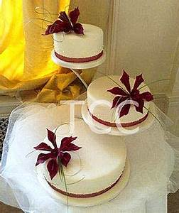 Burgundy 3 Tier Offset > Wedding Cakes > Shop by Occasion