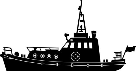 Boat Icon Png White by Tugboat Png Black And White Transparent Tugboat Black And