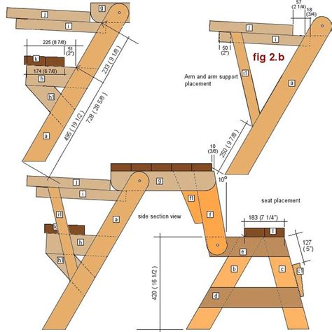 free folding picnic table bench plans pdf free folding side table plans woodworking projects plans