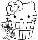 Cupcake Coloring Kitty Hello Cupcakes Printable Colouring Cool2bkids Birthday Cat Printables Pdf Princess Happy sketch template