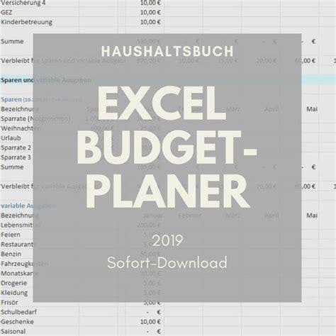 Die planung einer erfolgreichen veranstaltung ist immer abhängig von dem. Excel 2019 Budgetplan Finanzplan Haushaltsbuch als Excel ...