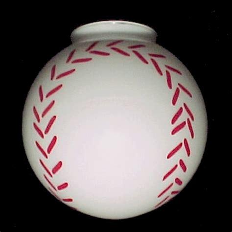 baseball 4 x 8 ceiling fan light globe l shade shades