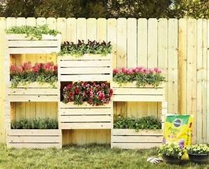 jardiniere en palette de bois 74 modeles a faire soi meme With brise vue avec jardiniere 9 transformer une palette en bois en jardiniare deco