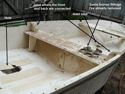 Parts Of A Wood Boat by Small Vintage Wooden Dinghy Made In 2 Parts