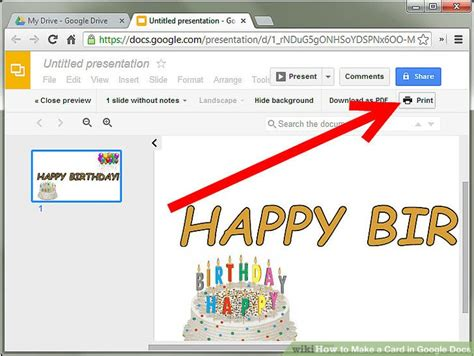 How To Make A Card In Google Docs