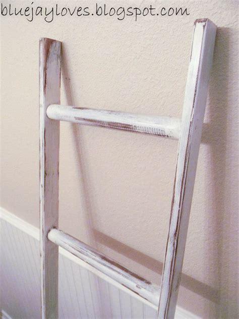 Ladder Vintage Rustic, Blanket Ladder, distressed
