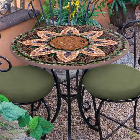 chairs for kitchen island knf garden designs 30 quot iron mosaic bistro set for 2 30set2