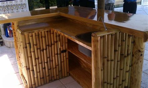 build bamboo tiki bar woodworking projects plans