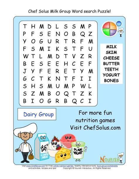 Printable   Word Search Puzzle   Milk Group