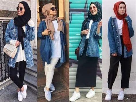 Hijab lookbook / denim jacket ud83dudc95ud83dudc96 - YouTube