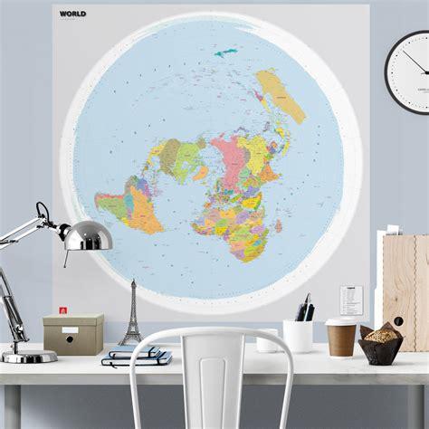 Pasaules politiskā karte polārā projekcijā. - Karšu ...