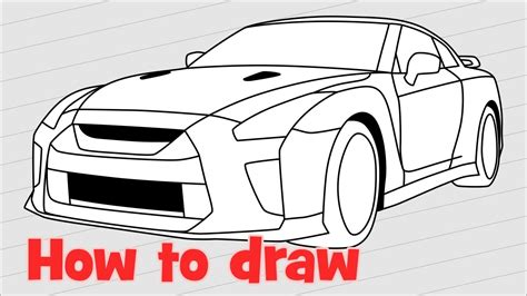 ferrari sketch view how to draw a car nissan gt r nismo 2017 quick youtube