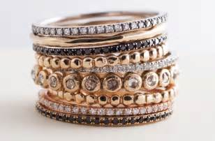 gorgeous stackable wedding bands assorted metals onewed - Stackable Wedding Bands