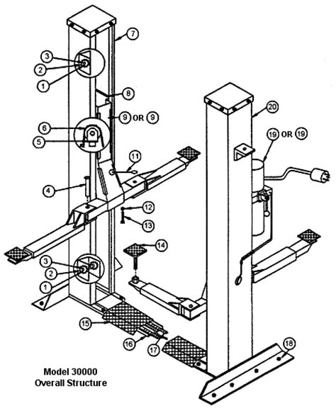 in ground rotary lifts parts wiring diagram and fuse box