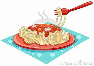 A Plate Of Spaghetti With Fork Stock Photography - Image ...