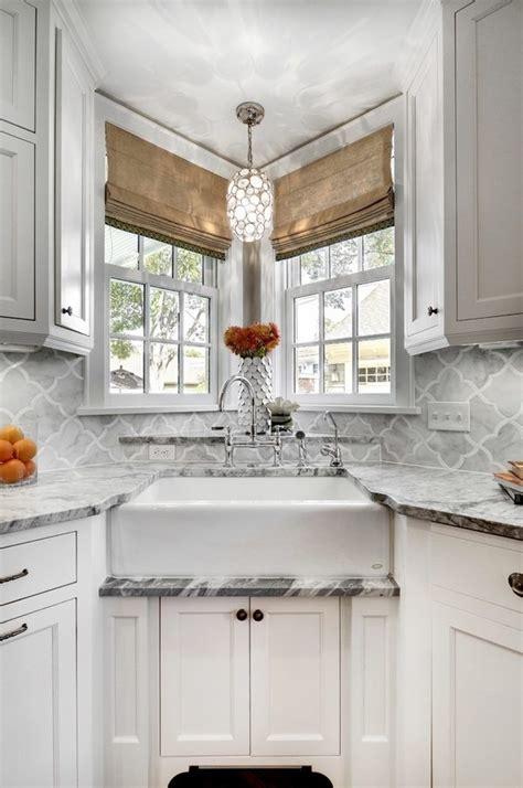 corner kitchen sink efficient  space saving ideas