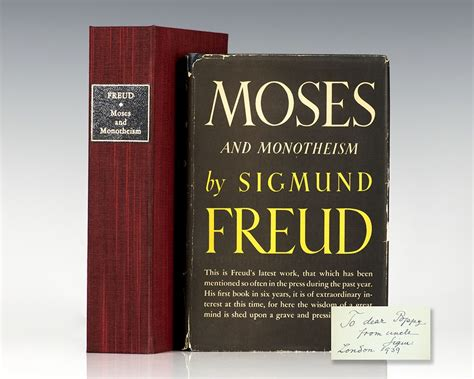 Moses And Monotheism Sigmund Freud First Edition Signed