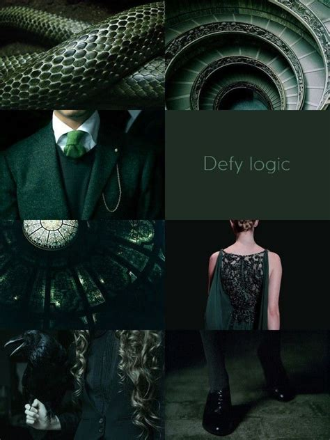 hp aesthetic hogwarts houses slytherin