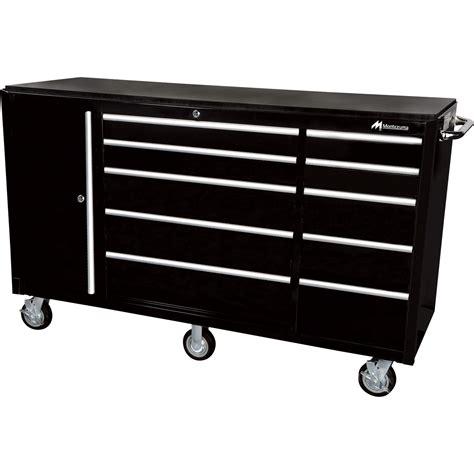 montezuma tool box parts montezuma 72in 10 drawer tool cart with bulk storage area